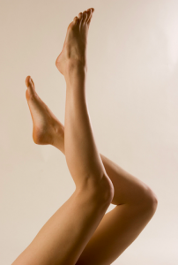 A woman's attractive legs reaching into the air
